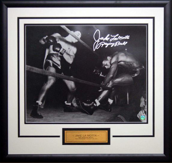 "Jake LaMotta ""Raging Bull"" Personally Signed and Inscribed Lithograph"